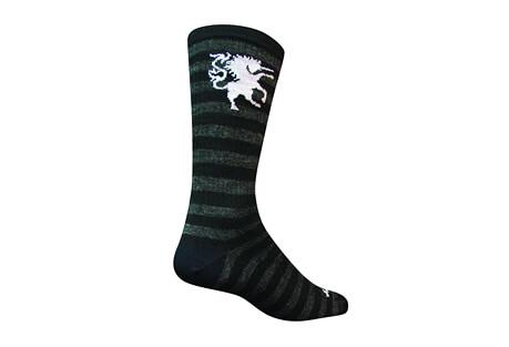 "Sock Guy Medieval Unicorn 6"" Wool Crew Socks"