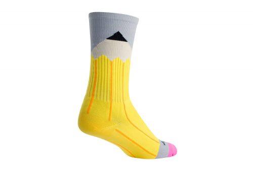 Sock Guy No. 2 Crew Socks - yellow/grey, l/xl