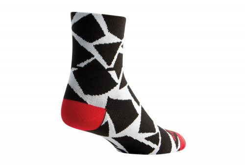 Sock Guy Shattered Classic Socks - black/white, s/m