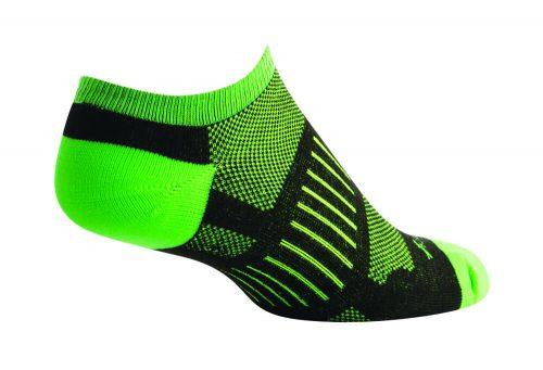Sock Guy Sprint Black No Show Socks - Women's - black/green, l/xl