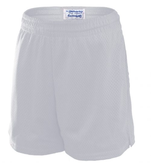 Soffe N5265100SML Intensity 5.5 in. Pro Mesh Polyester Shorts White - Small