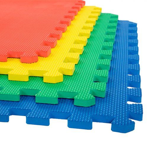 Stalwart M550029 24 x 24 x 0.50 in. Interlocking EVA Foam Floor Mats Multicolor - Pack of 4