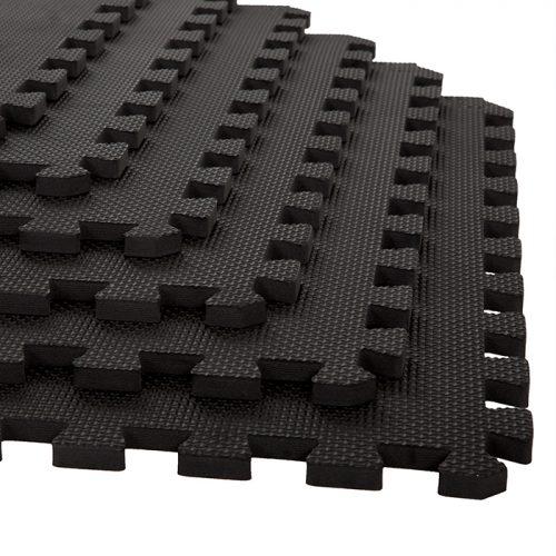 Stalwart M550030 24 x 24 x 0.50 in. Interlocking EVA Foam Floor Mats Black - Pack of 6