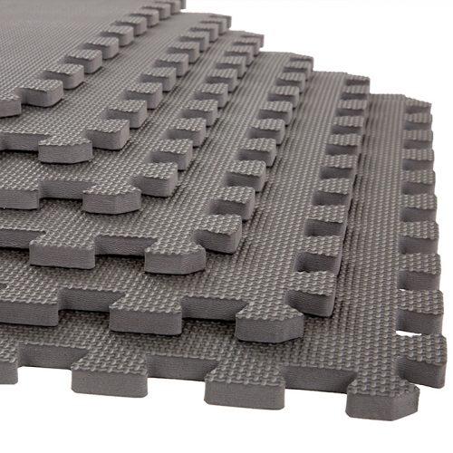 Stalwart M550031 24 x 24 x 0.50 in. Interlocking EVA Foam Padding Foam Mat Floor Tiles Gray - Pack of 6