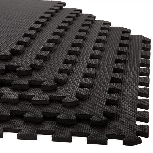 Stalwart M550032 24 x 24 x 0.38 in. Interlocking EVA Foam Floor Mats Black - Pack of 6
