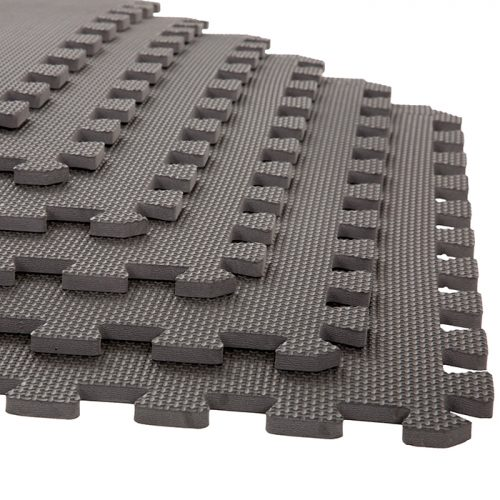 Stalwart M550033 24 x 24 x 0.38 in. Interlocking EVA Foam Floor Mats Gray - Pack of 6