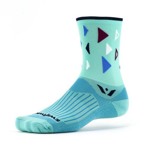 Swiftwick Vision Five Fiesta Crew Socks: Swiftwick Socks