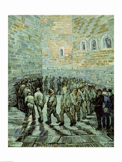 The Exercise Yard Or The Convict Prison 1890 Poster Print by Vincent Van Gogh - 18 x 24 in.