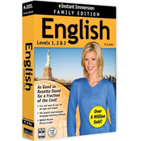 Topics Entertainment 81351 Instant Immersion English Family Edition - Win XpVistaWin 7Win 8-Mac Os X10.6 Or Later