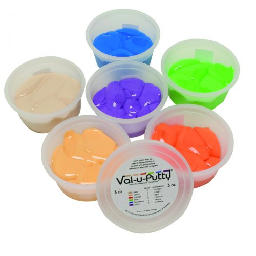Val-U-Putty 10-3916 3 oz Exercise Putty - 6 Piece