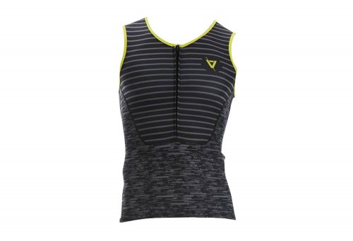 Volare Sublimated Tri Singlet - Men's - black/yellow, large