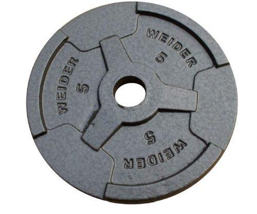 Weider HP5 5 lbs Standard Hammertone Weight Plate Black