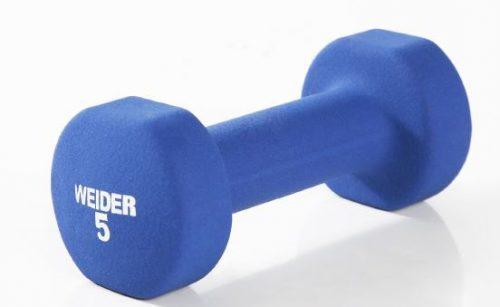 Weider NDCT5-S 5 lbs Neoprene Dumbbell Blue