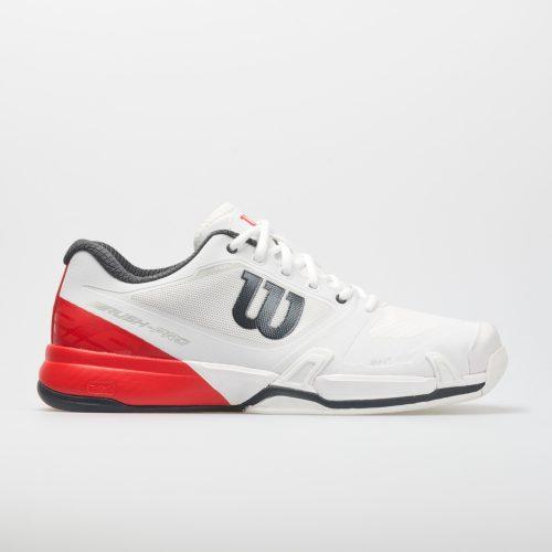 Wilson Rush Pro 2.5: Wilson Men's Tennis Shoes White/Fiery Red/Ebony