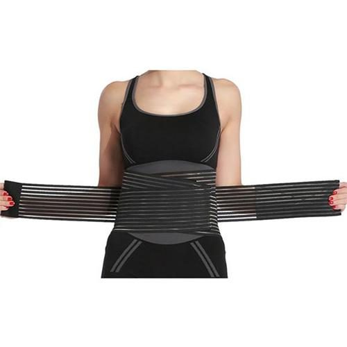 Womens Breathable Double-Compression Shaping Belt Black - Extra Large