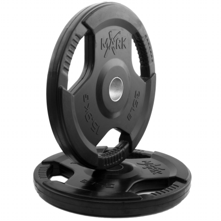 XMark Rubber Coated Olympic Plates - 35 lb Pair
