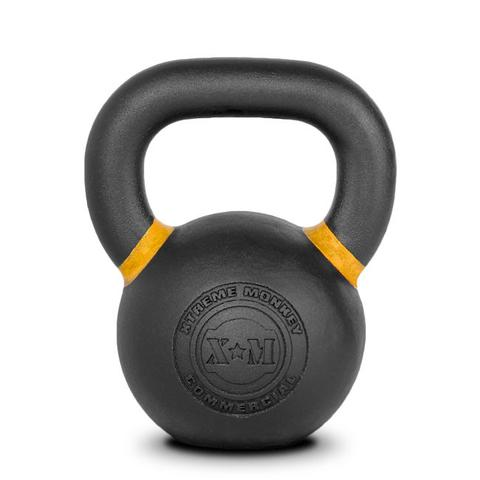 Xtreme Monkey XM-4605 16 kg Commercial Cast Iron Kettle Bells - Black & Yellow