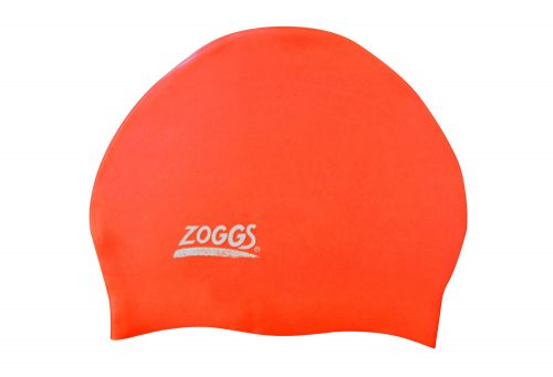 Zoggs Easy Fit Silicone Cap - tri orange, one size