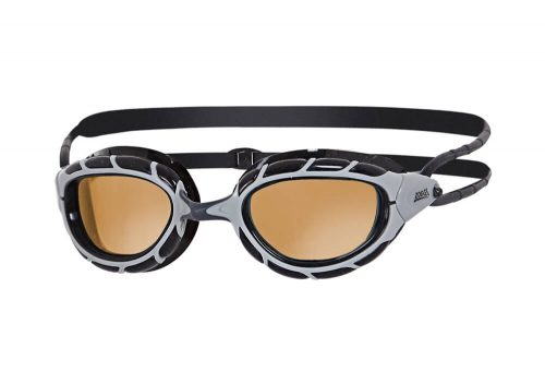 Zoggs Predator Polarized L/XL Goggles - black-silver/copper, l/xl