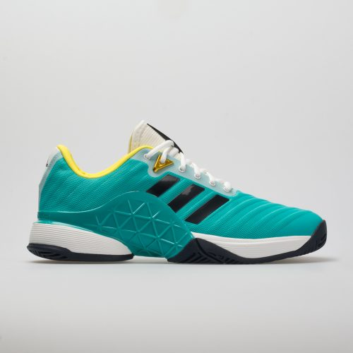 adidas Barricade 2018: adidas Men's Tennis Shoes Hi-Res Aqua/Legend Ink/Shock Yellow