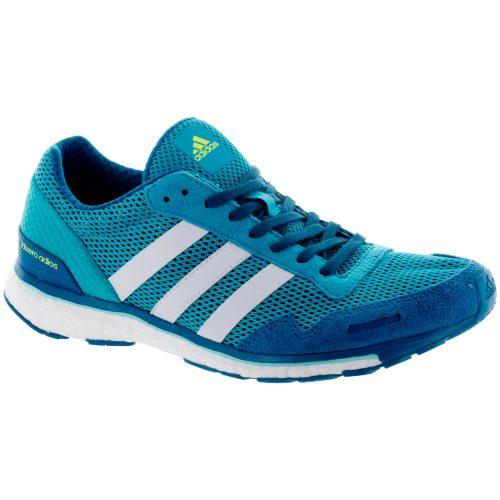 adidas adizero Adios 3: adidas Women's Running Shoes Energy Blue/FTWR White/Energy Aqua