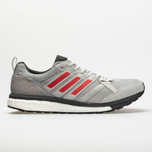 adidas adizero Tempo 9: adidas Men's Running Shoes Grey/Hi-Res Red/Carbon