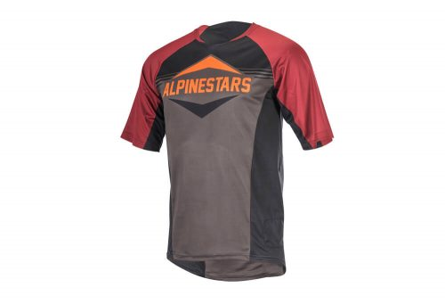 alpinestars Mesa Short Sleeve Jersey - Men's - black/rio red/dark shadow, large
