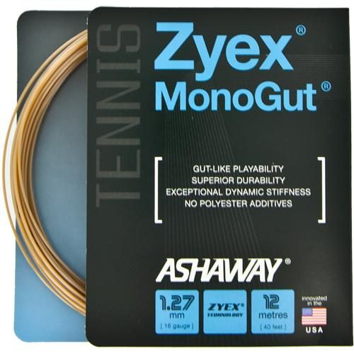 Ashaway MonoGut ZX 16 Natural: Ashaway Tennis String Packages