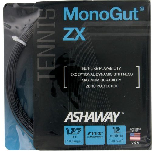 Ashaway Monogut ZX 16 Black: Ashaway Tennis String Packages