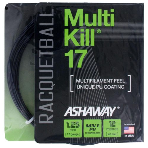 Ashaway MultiKill 17 Black: Ashaway Racquetball String Packages