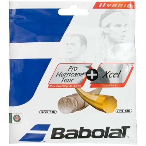 Babolat Pro Hurricane Tour 16 + Xcel 16: Babolat Tennis String Packages
