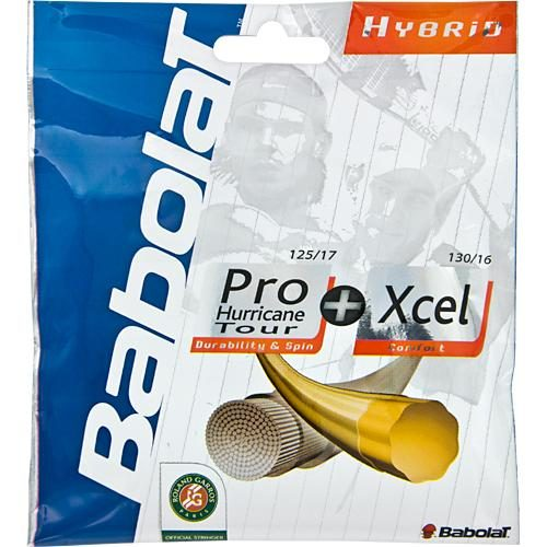 Babolat Pro Hurricane Tour 17 + Xcel 16: Babolat Tennis String Packages