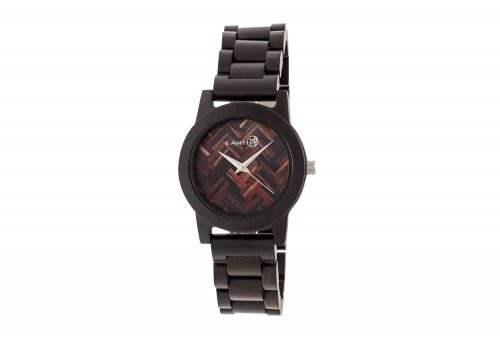Earth Wood Crown Watch - dark brown wood, one size