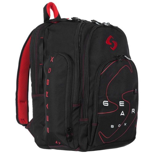 Gearbox Backpack Black/Red: Gearbox Racquetball Bags