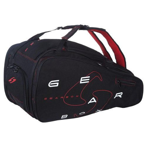 Gearbox Club Bag Black/Red: Gearbox Racquetball Bags
