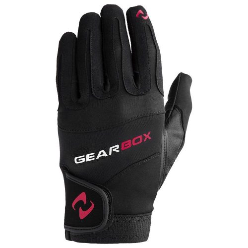 Gearbox Movement Glove Left Red Accent: Gearbox Racquetball Gloves