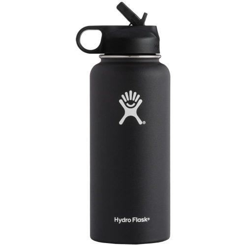 Hydro Flask 32oz Wide Mouth Bottle w/ Straw Lid: Hydro Flask Hydration Belts & Water Bottles