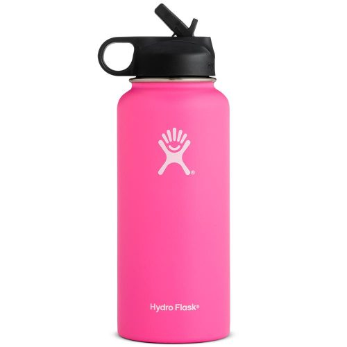 Hydro Flask 32oz Wide Mouth Bottle w/ Straw Lid: Hydro Flask Hydration Belts & Water Bottles