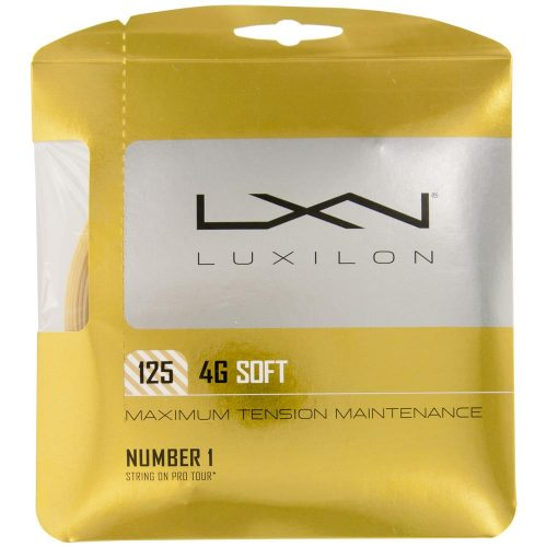 Luxilon 4G Soft 16 (1.25): Luxilon Tennis String Packages
