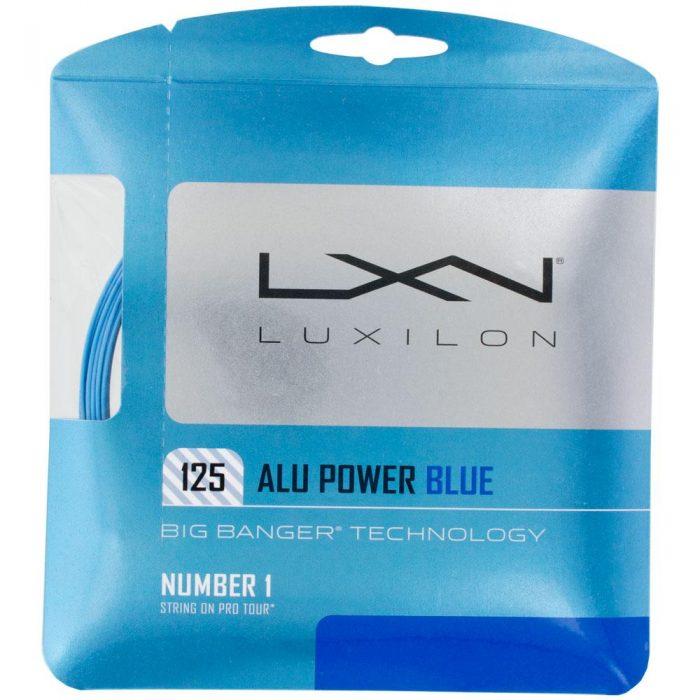 Luxilon Big Banger ALU Power 16L (1.25) LE Blue: Luxilon Tennis String Packages