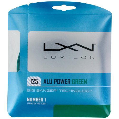 Luxilon Big Banger ALU Power 16L (1.25) LE Green: Luxilon Tennis String Packages