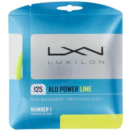 Luxilon Big Banger ALU Power 16L (1.25) LE Lime: Luxilon Tennis String Packages