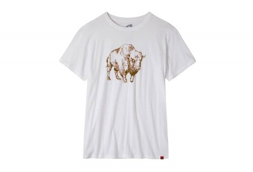 Mountain Khakis Bison Illustration T-Shirt - Men's - white/coffee, medium