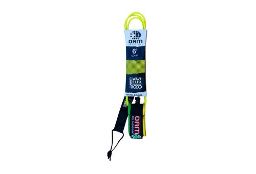 OAM Comp 6' Leash Michel Bourez - yellow clean, one size