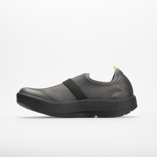 Oofos OOmg Low Fibre: Oofos Women's Walking Shoes Black/Gray