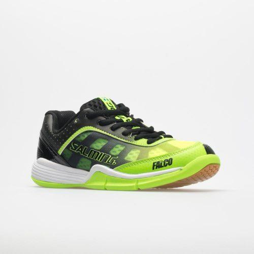 Salming Falco Junior New Fluo Green/Black: Salming Junior Squash Shoes