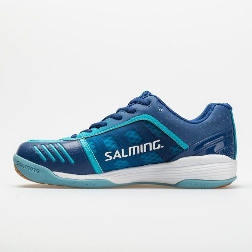 Salming Falco: Salming Women's Indoor, Squash, Racquetball Shoes Limoges Blue/Blue Atol