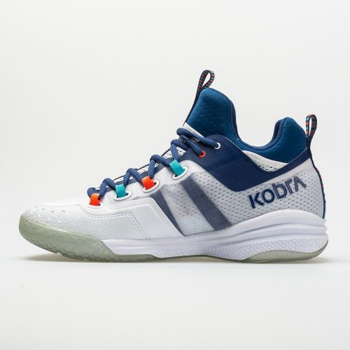 Salming Kobra Mid 2: Salming Men's Indoor, Squash, Racquetball Shoes White/Limoges Blue