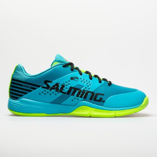 Salming Viper 5: Salming Men's Indoor, Squash, Racquetball Shoes Blue Atol/New Fluo Green