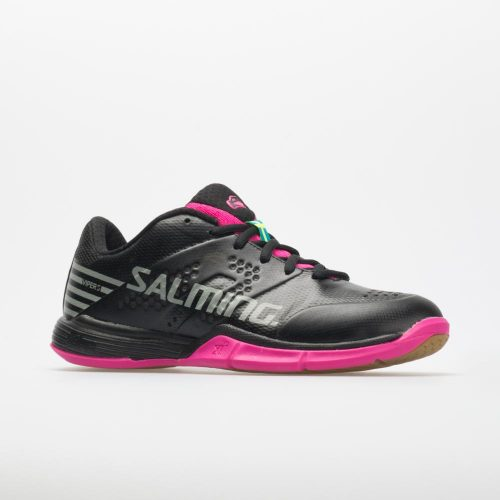 Salming Viper 5: Salming Women's Indoor, Squash, Racquetball Shoes Black/Pink Jewel